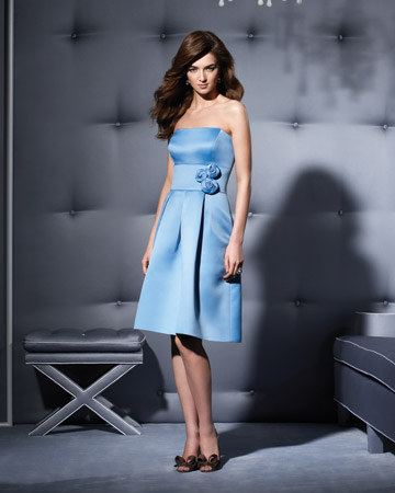 Light-Blue Strapless Dress