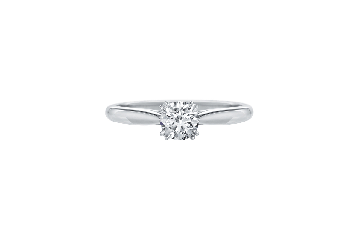 harry winston round cut solitaire ring