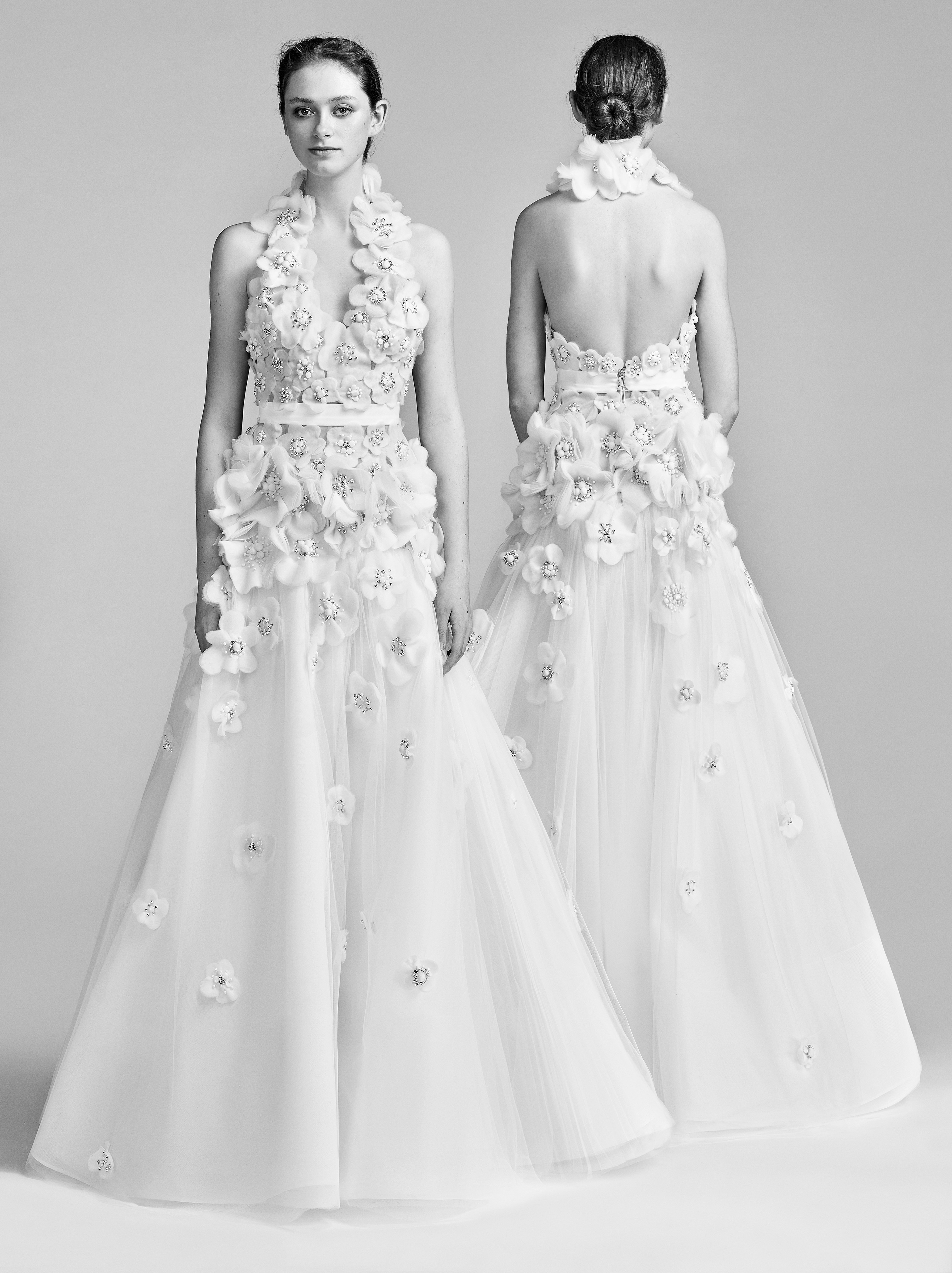 Viktor&Rolf Sparkly A-Line Wedding Dress Spring 2018