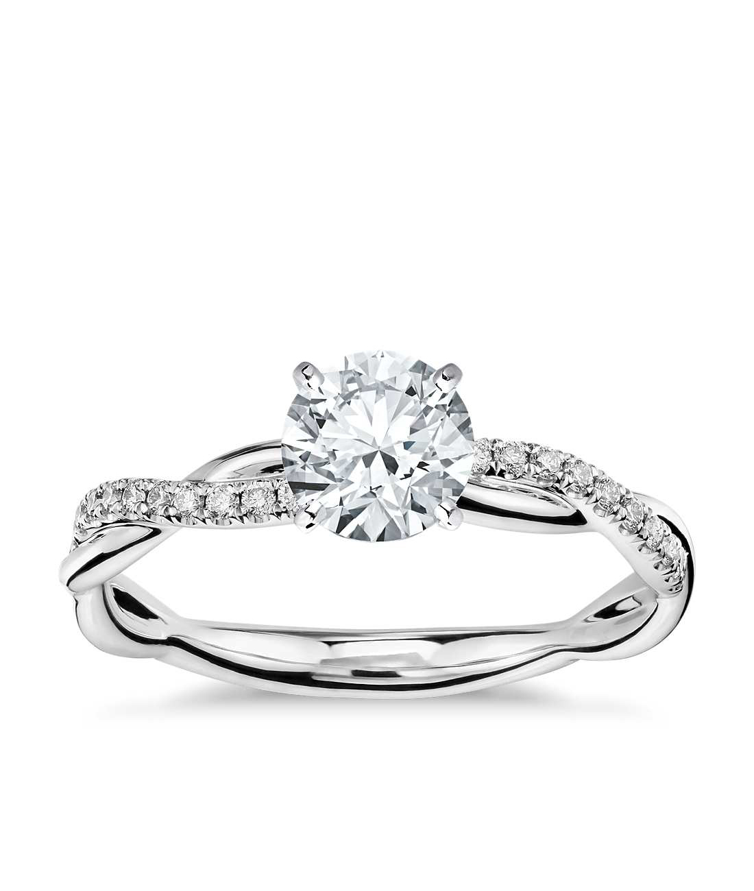 blue nile platinum ring