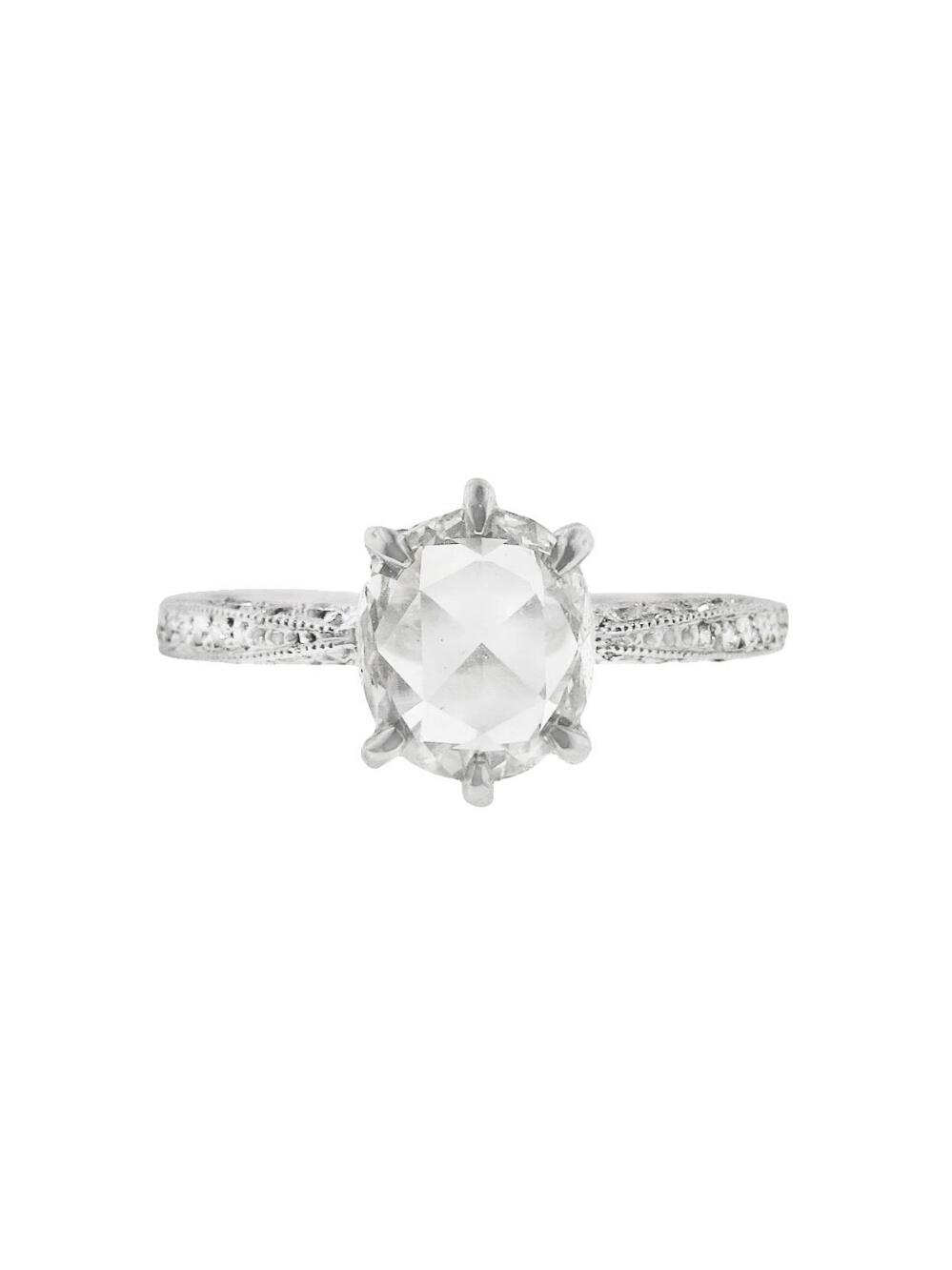 Cathy Waterman Rose Cut Diamond Band Ring