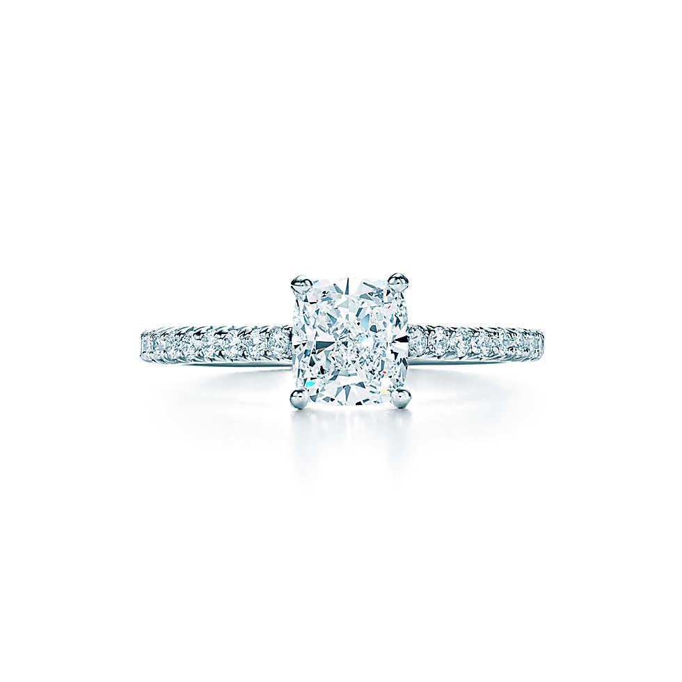 Tiffany Novo Cushion Cut Diamond Engagement Ring