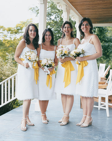 White-and-Yellow Dresses