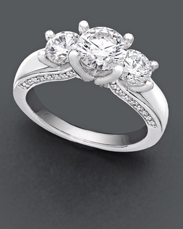 2 ct. t.w Three Stone Ring