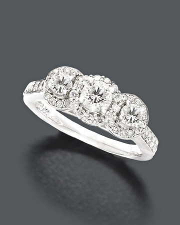 1 ct. t.w Three Stone Ring