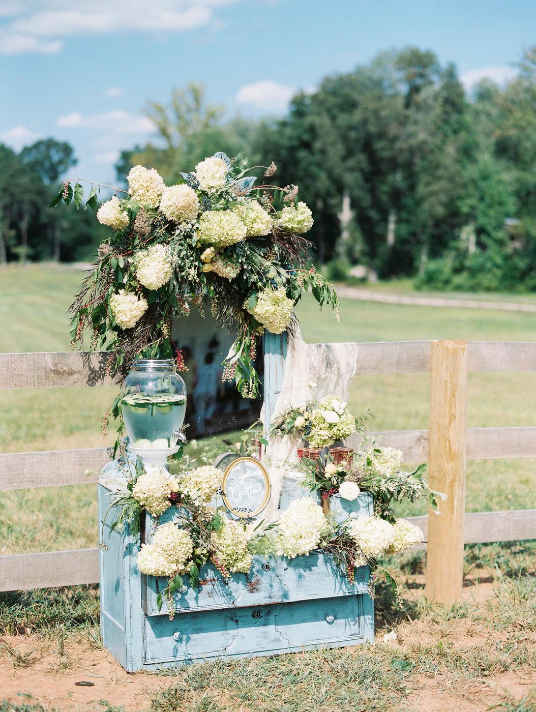 blue wedding idea krista jones