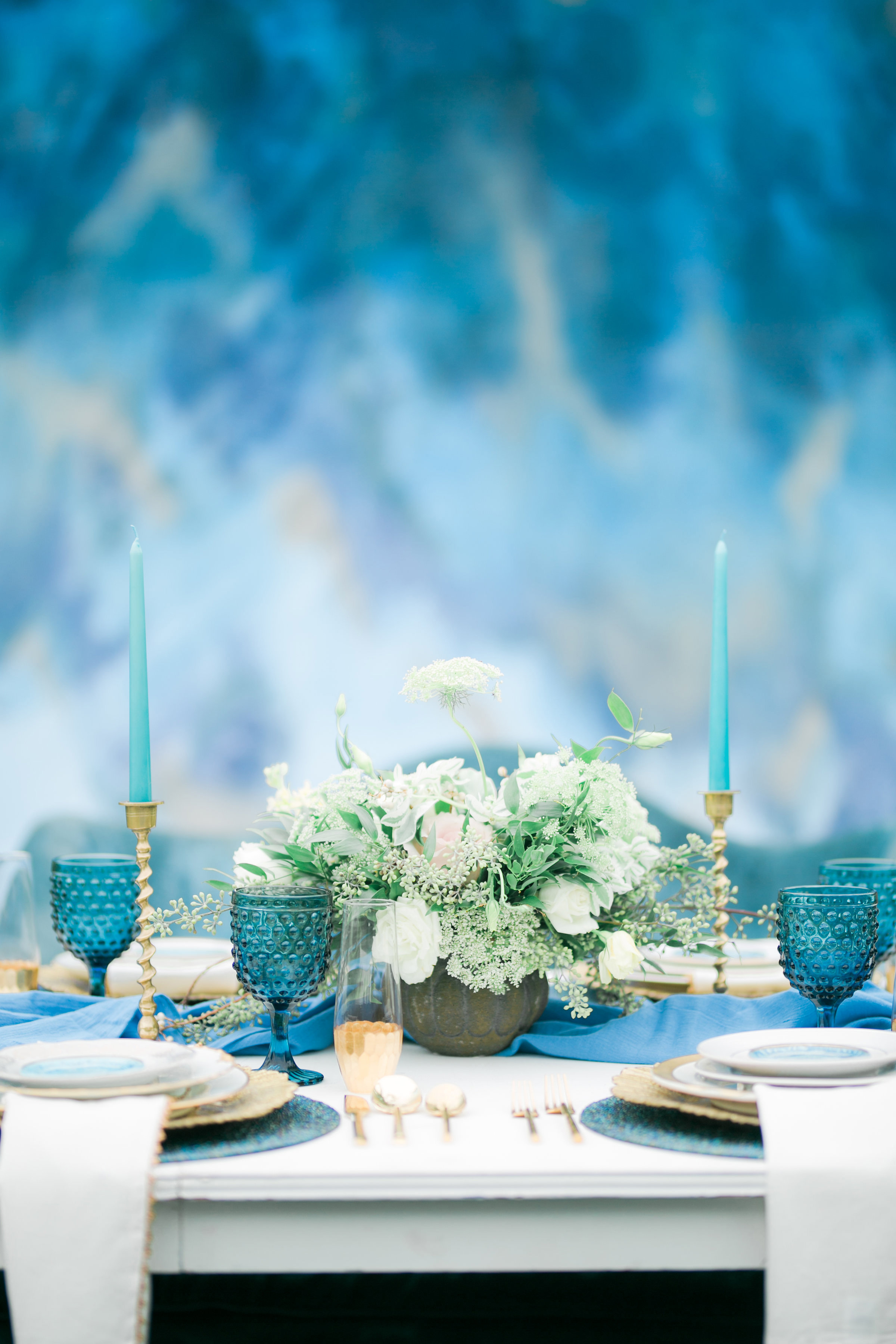 blue wedding ideas erika mills