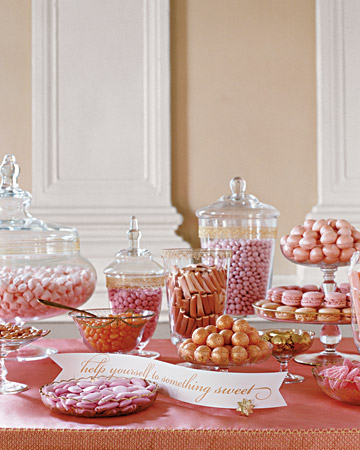 Pink and Gold Confections Table