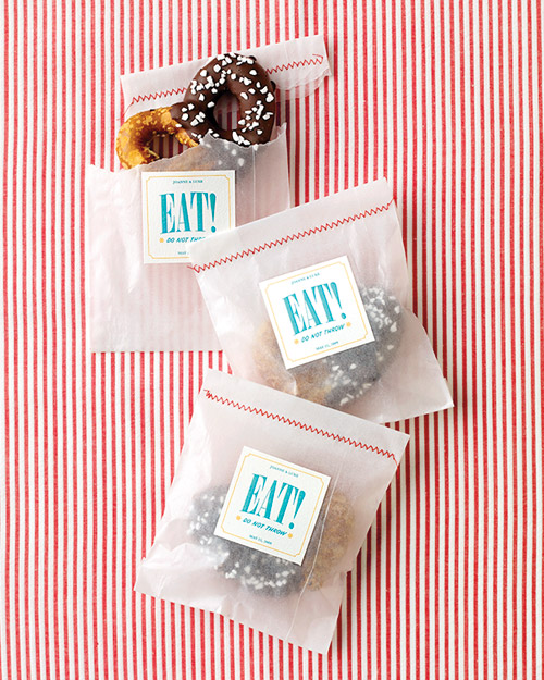 Eat  Wedding Favor Labels
