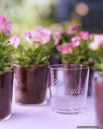 Etched Flowerpot Favor