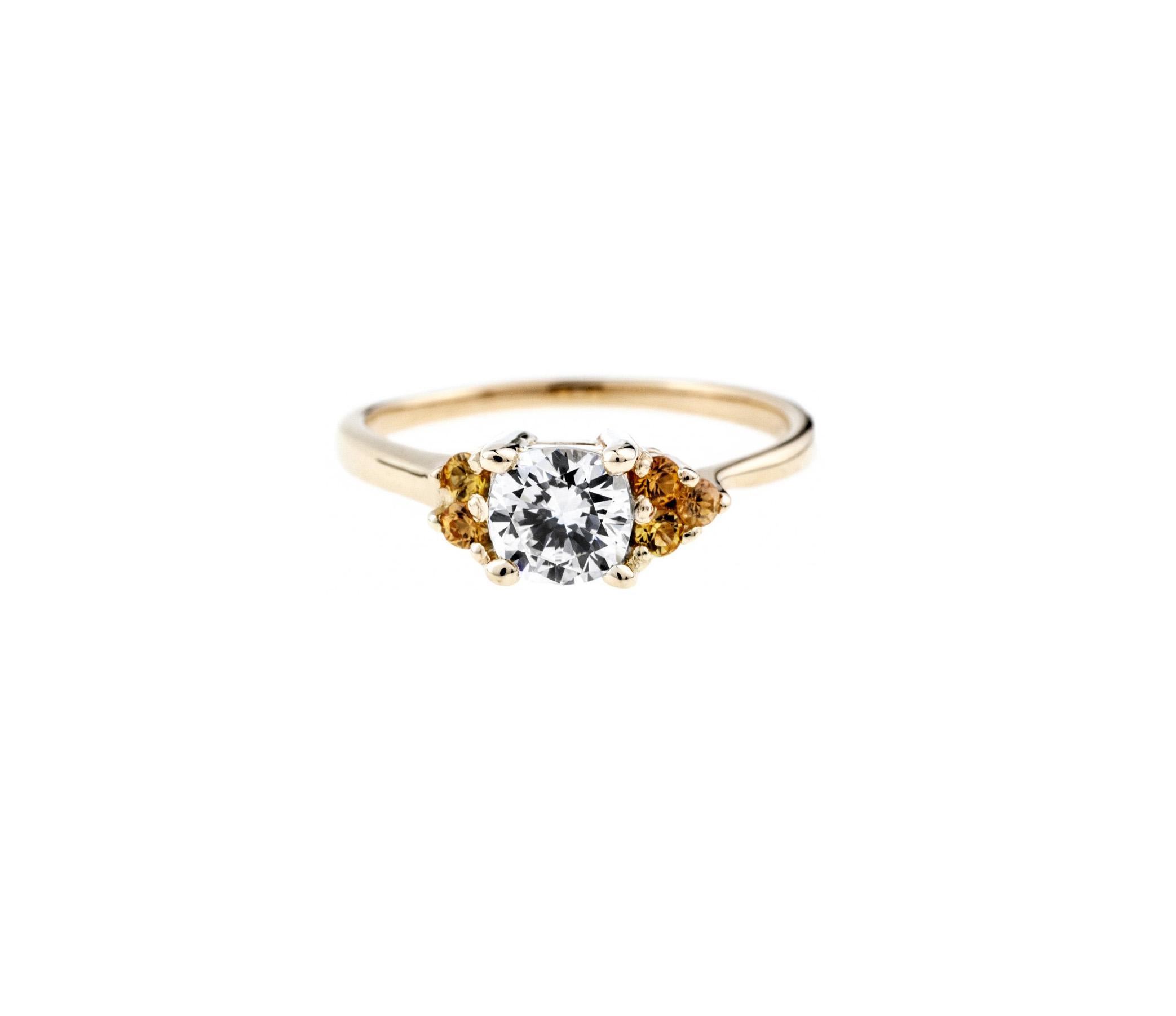 bario neal avens asymmetrical cushion cut engagement ring