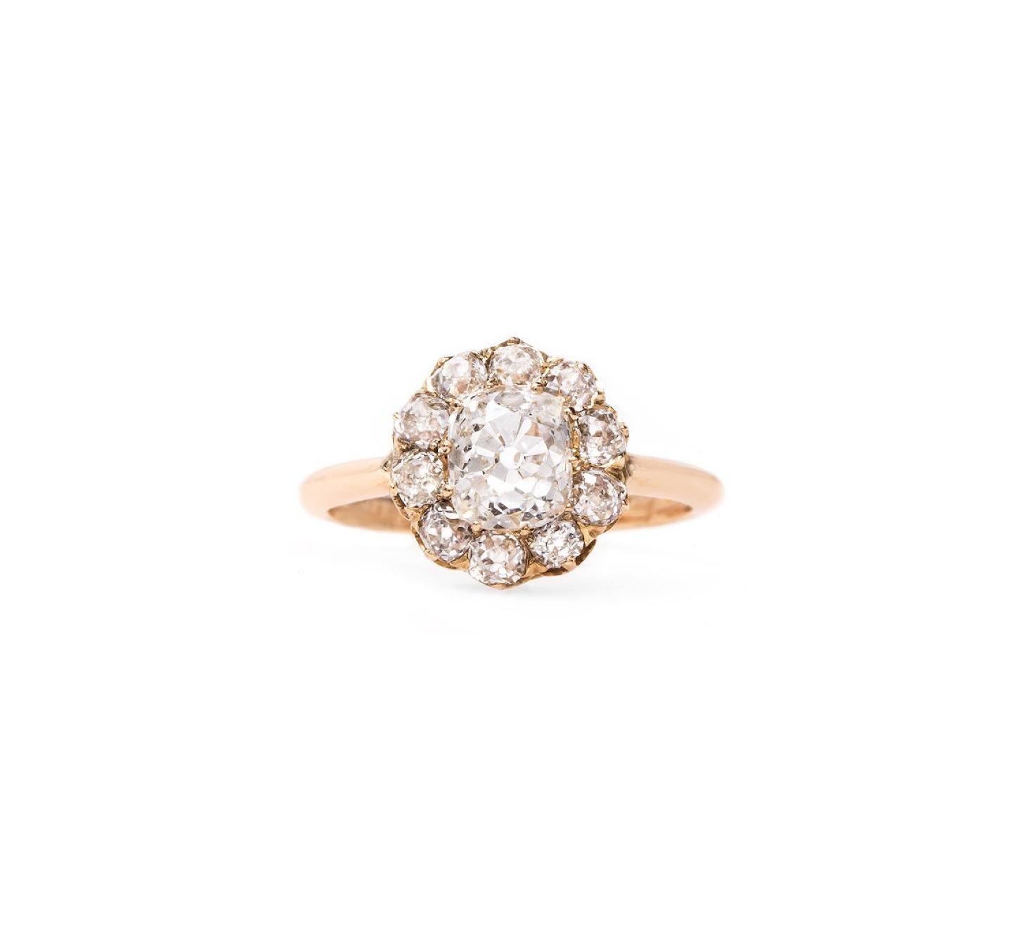 trumpet horn cushion cut diamond engagement ring kirkwood