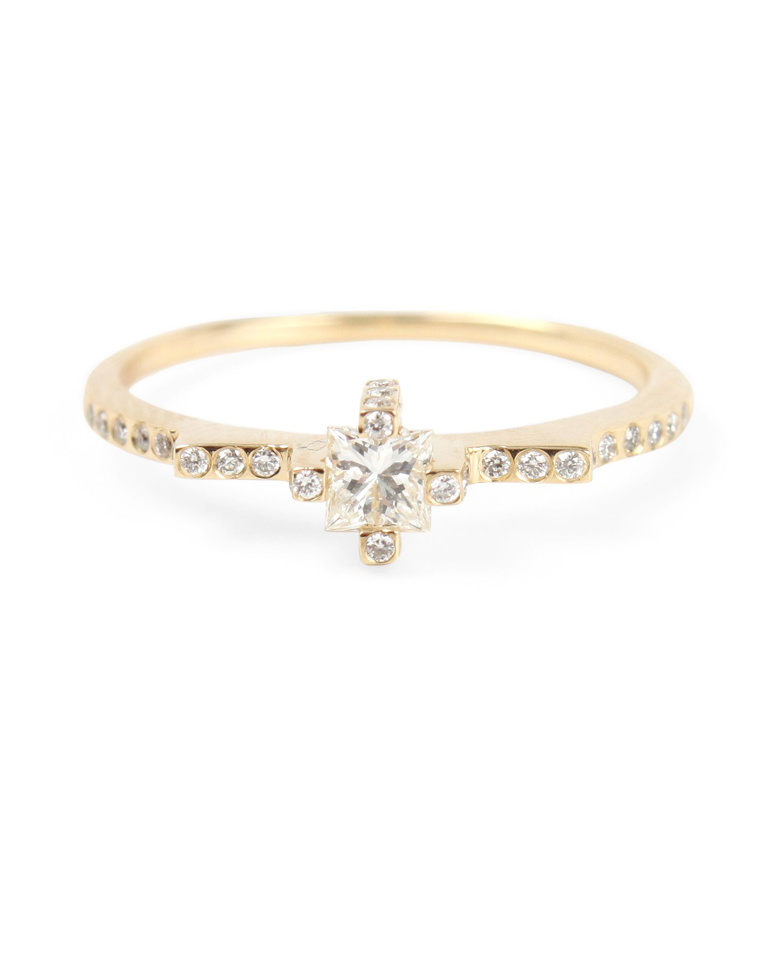 princess cut ring rose gold claire kinder