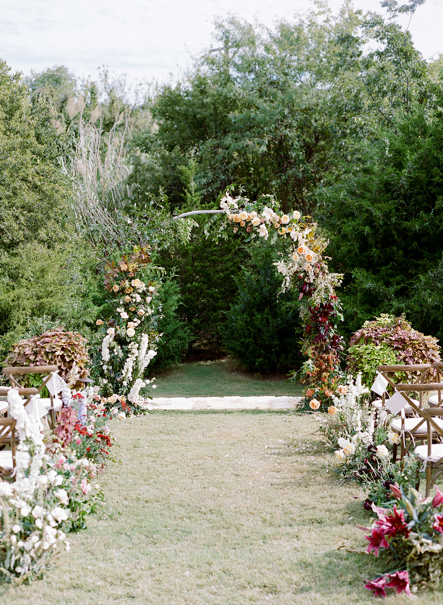 ivana nevin wedding ceremony aisle and arch
