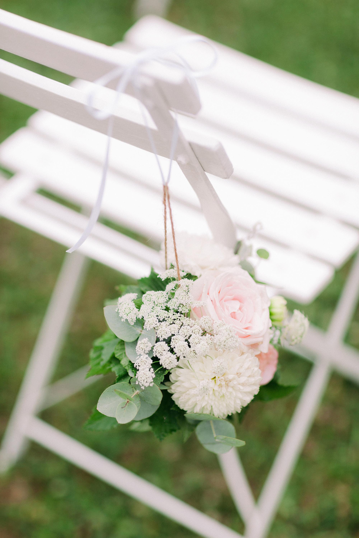 floral chair decoration