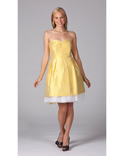 Short Yellow Bridesmaid Dress