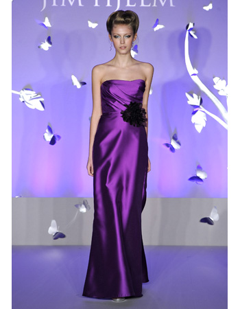 Floor-Length Bridesmaid Dress in Purple