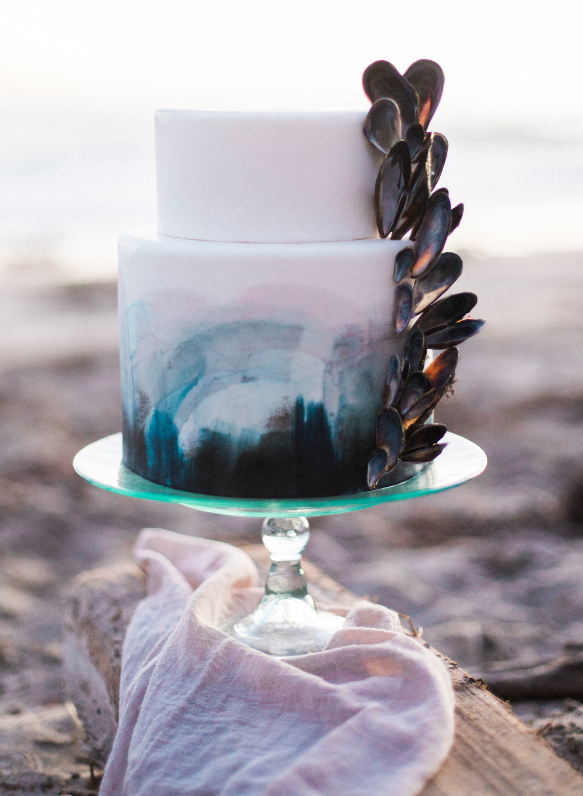 beach wedding cakes ashley depencier