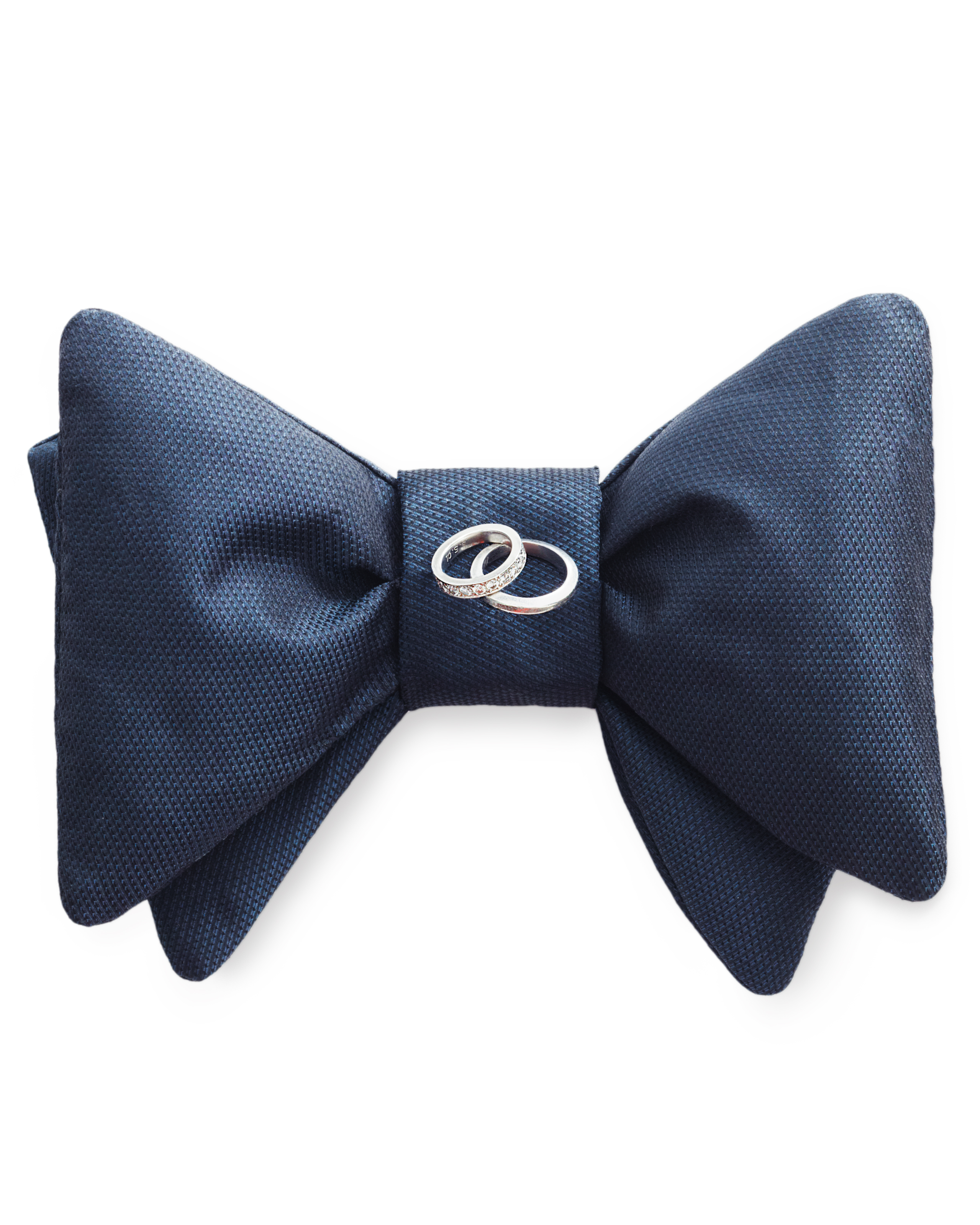No-Sew Bow Tie Ring Pillow