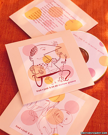 CD Wedding Favors