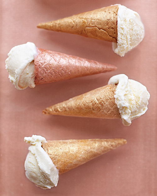 Shimmering Ice Cream Cones