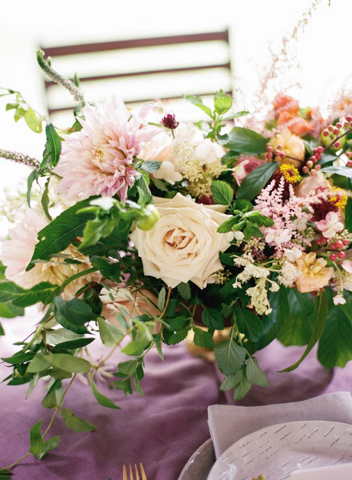 dahlia wedding centerpieces pink assorted flowers
