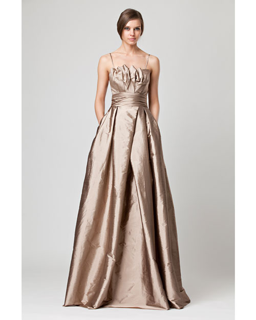 Floor-Length Champagne Bridesmaid Dress