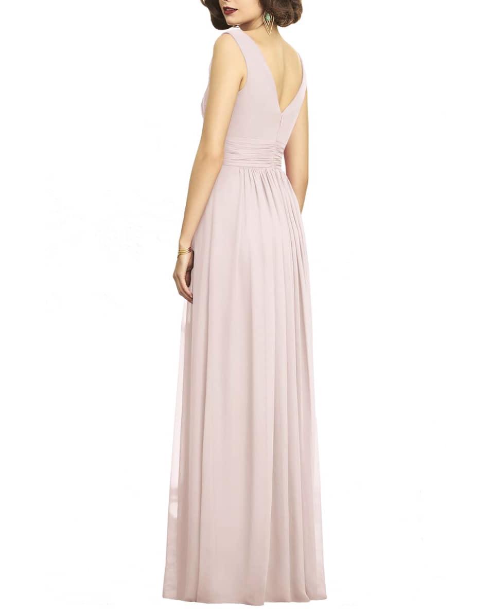 pink bridesmaids sheath wedding dress