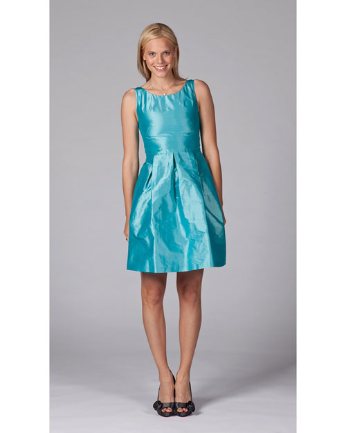 Short Aqua Bridesmaid Dress