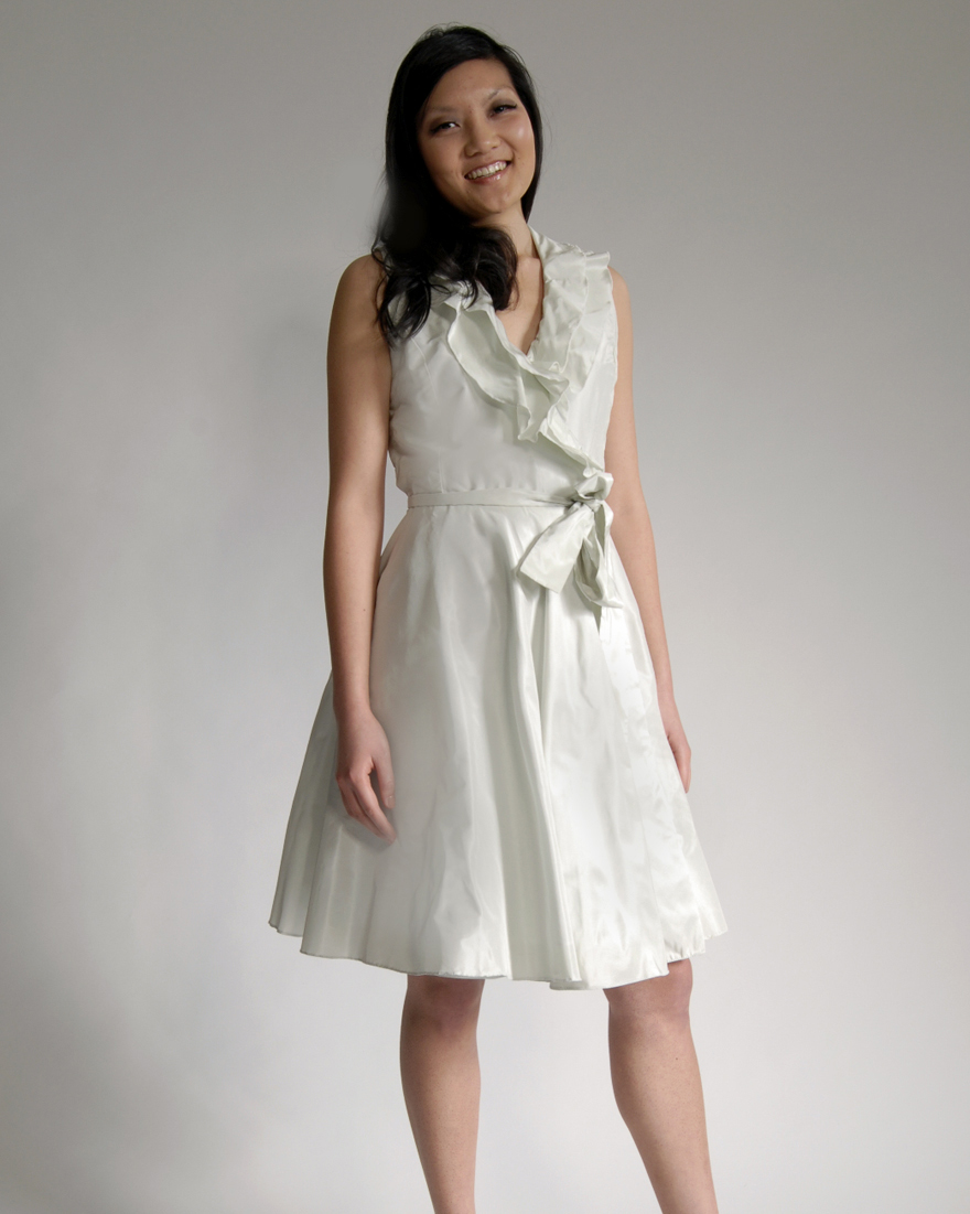 Short Sea Foam Bridesmaid Dress