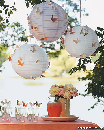 Butterfly Paper Lanterns