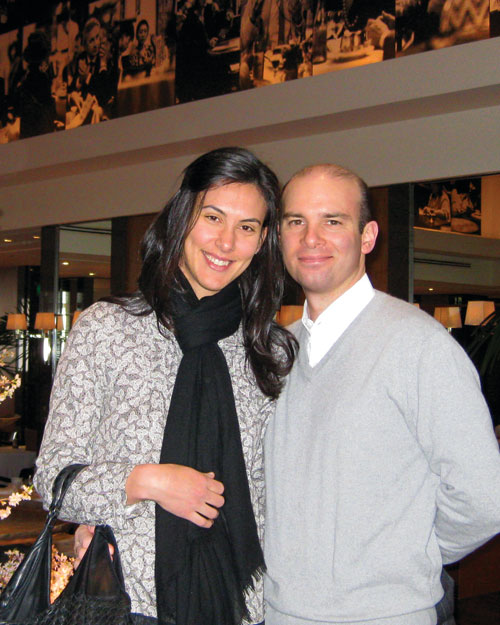 Elizabeth Colling, assistant food editor, and Stephane Colling, 2009