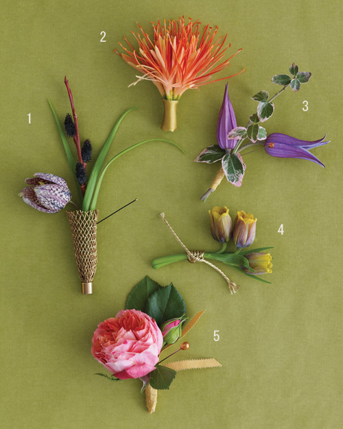 Go Long with Your Flowers: For Your Boutonnieres