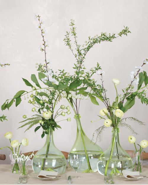 Spread Out with Your Flowers: For Your Centerpieces