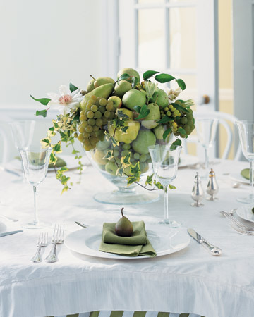 Country Centerpiece with Green Fruit