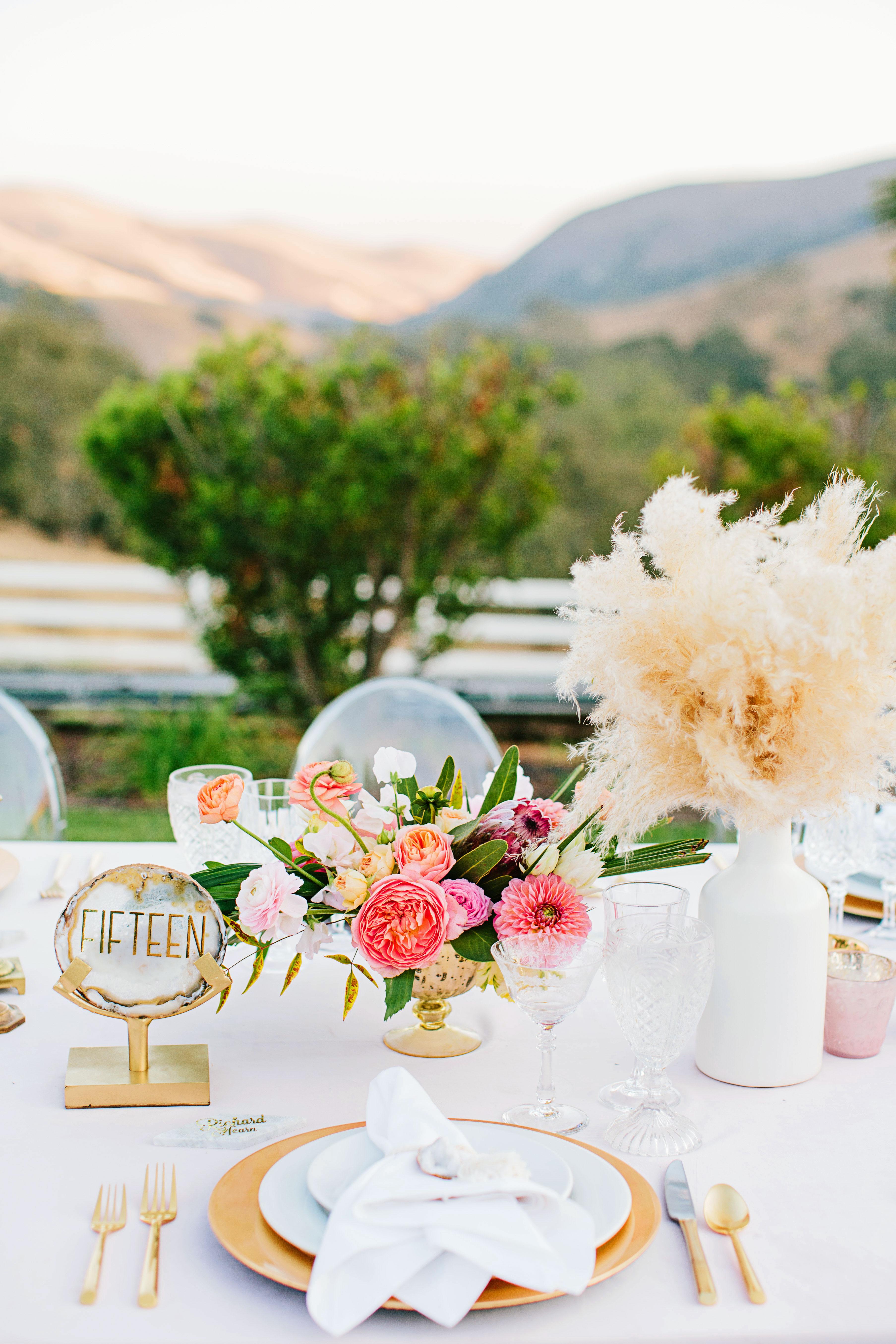 stephanie jared wedding place setting