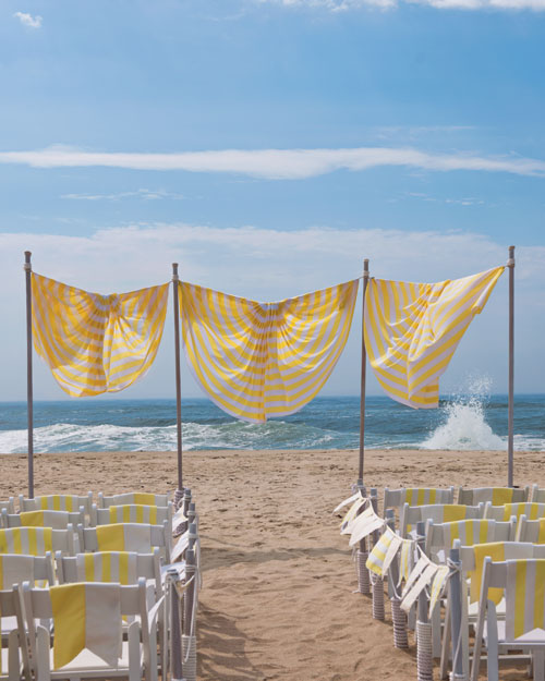 Ceremony Markers for a Beach Wedding