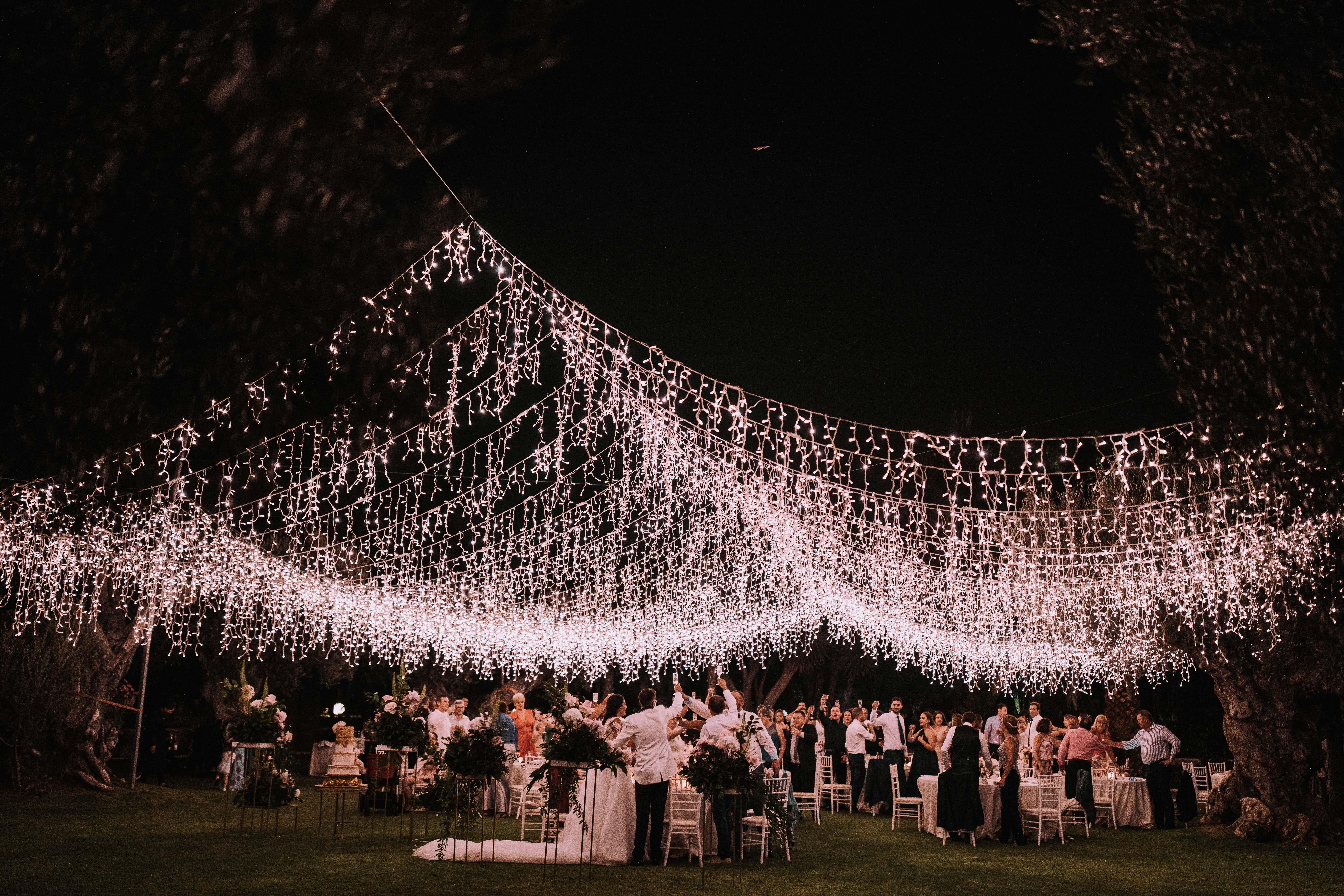 sparkling hanging lights