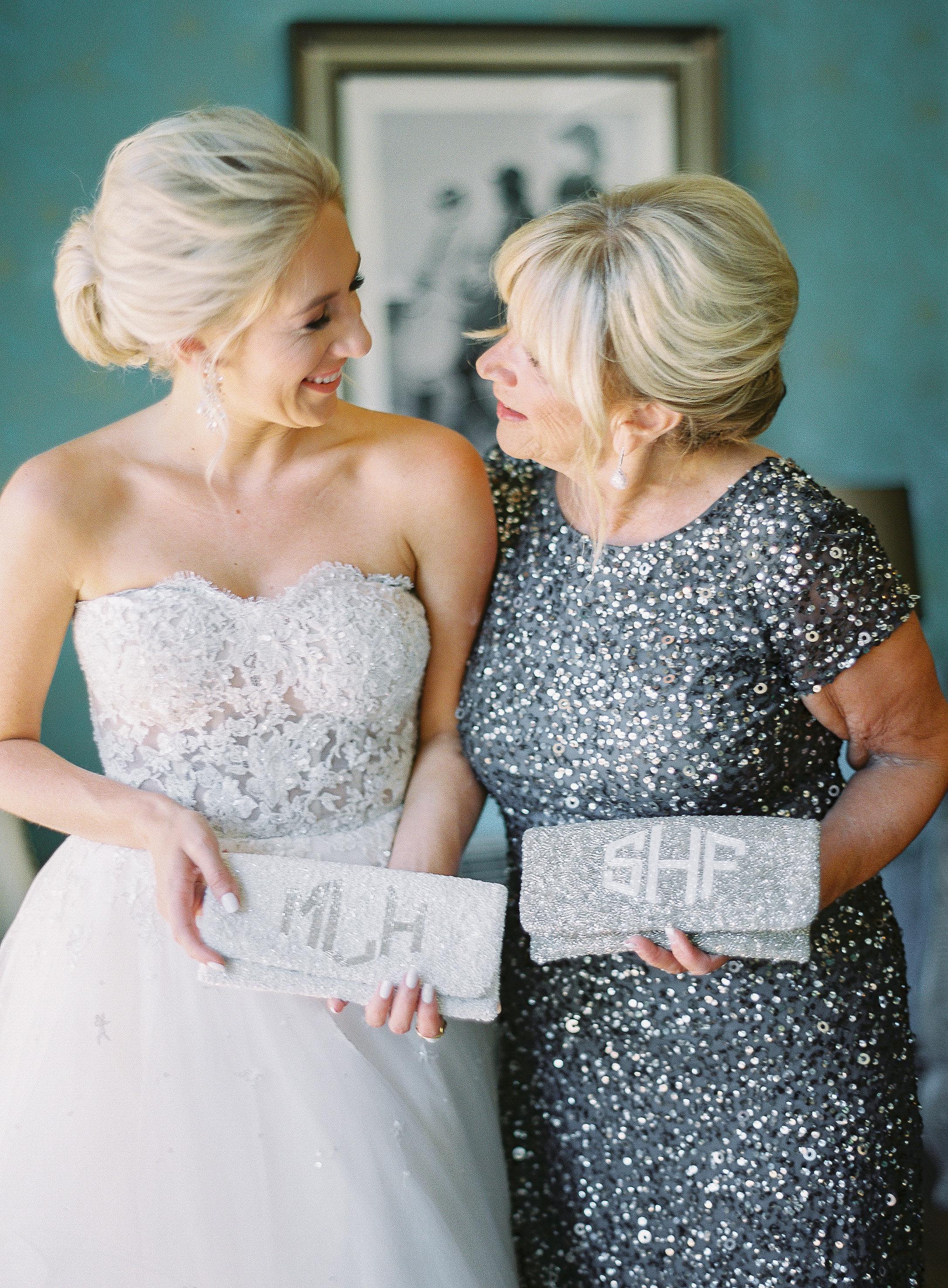 sparkling purses mom and bride