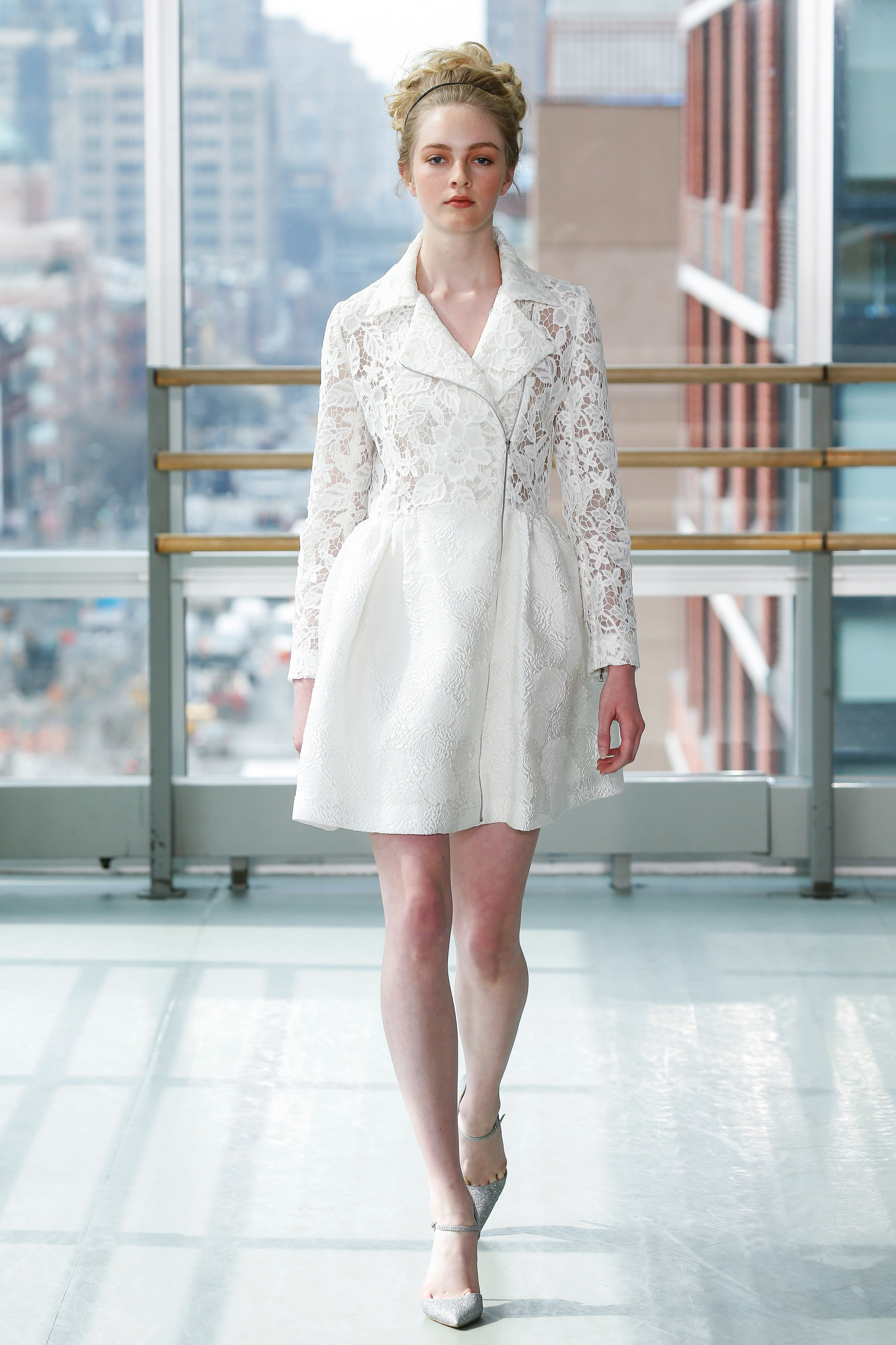 gracy accad wedding dress spring 2019 short blazer lace