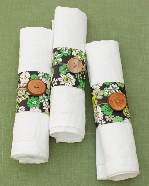 Wallpaper Napkin Rings