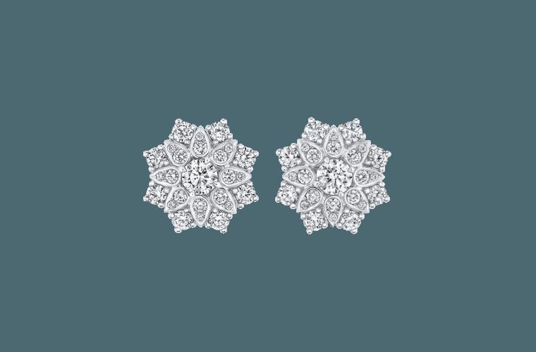 "Wedding Earrings for Every Bride, Harry Winston ""Lotus"" Cluster Diamond Earrings"