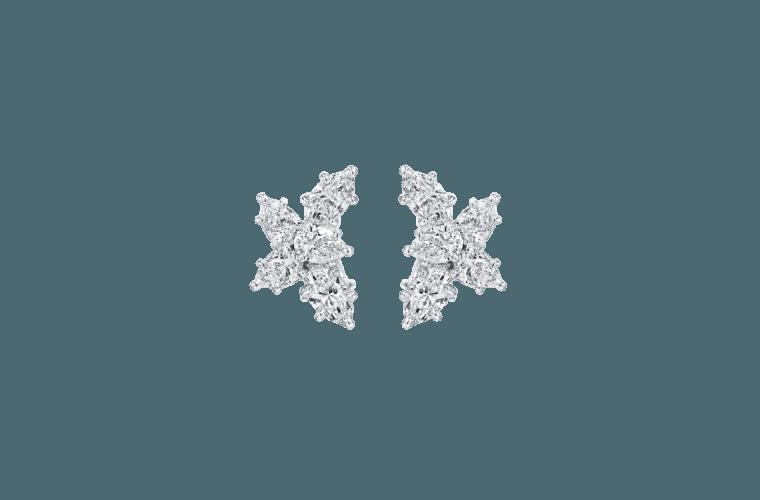 """Wedding Earrings for Every Bride, Harry Winston """"Winston"""" Cluster Diamond Earrings"""