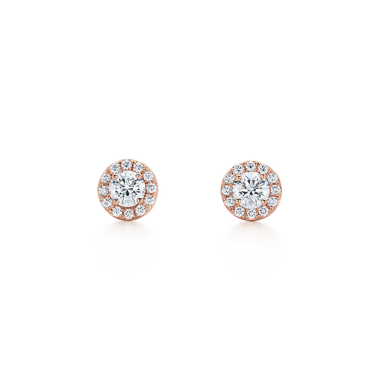 """Wedding Earrings for Every Bride, Tiffany and Co. """"Soleste"""" Round Diamond Earrings"""