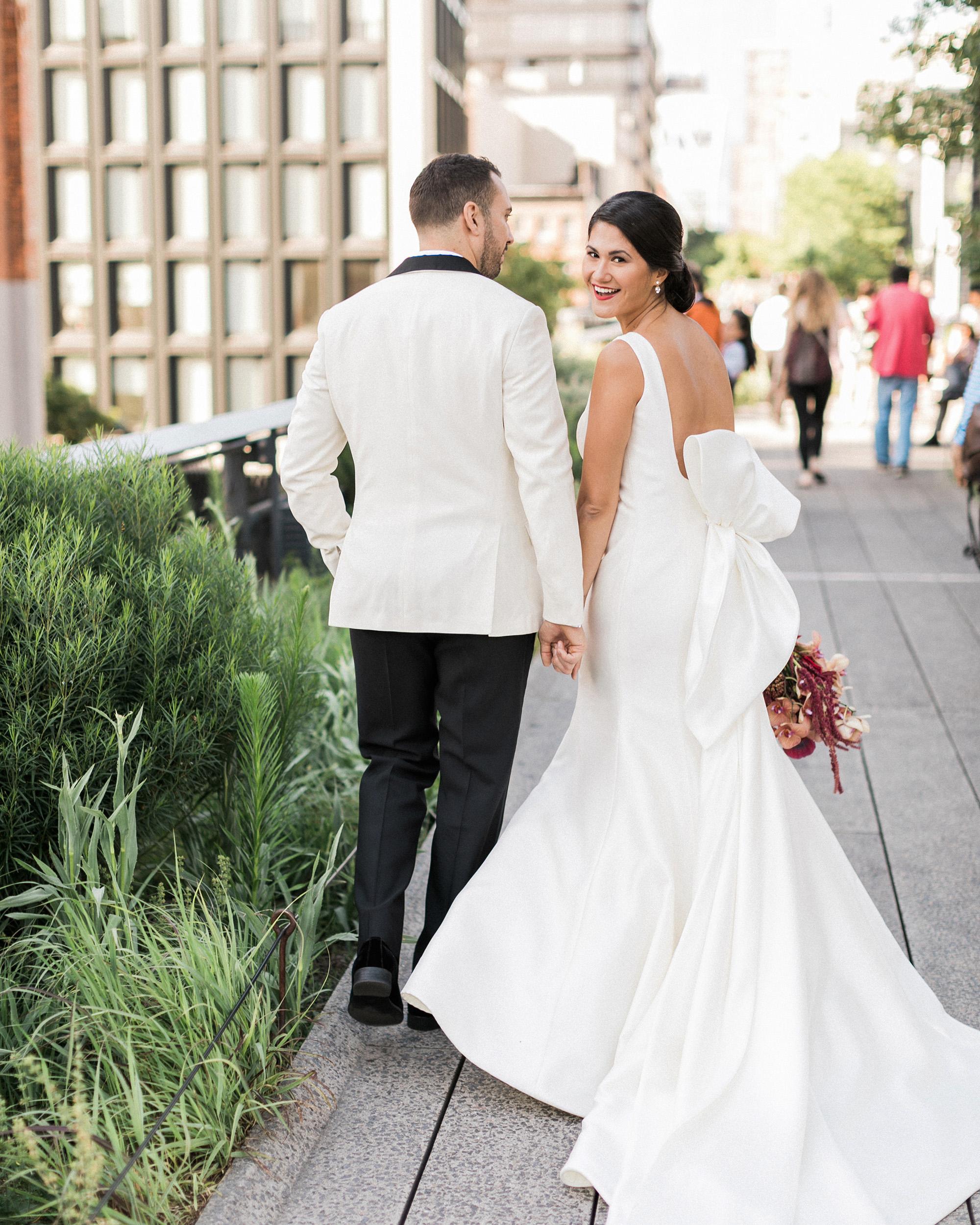 glamorous wedding ideas bride groom dapper couple