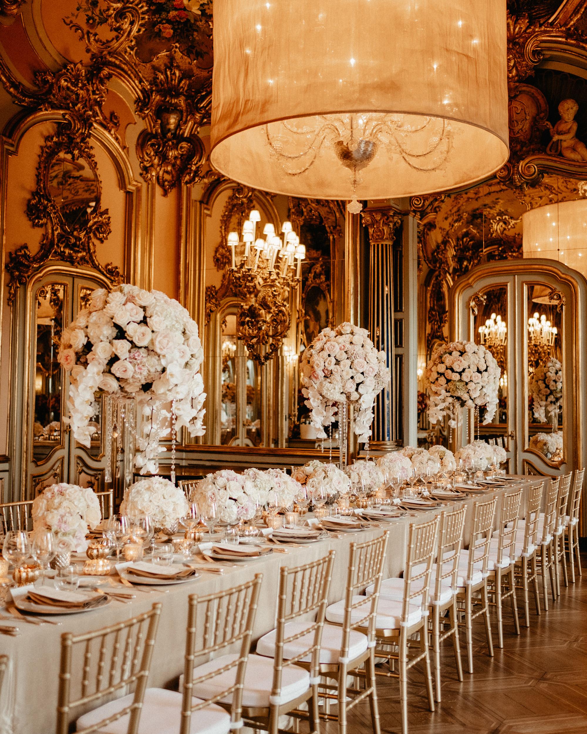 glamorous wedding ideas regal reception room