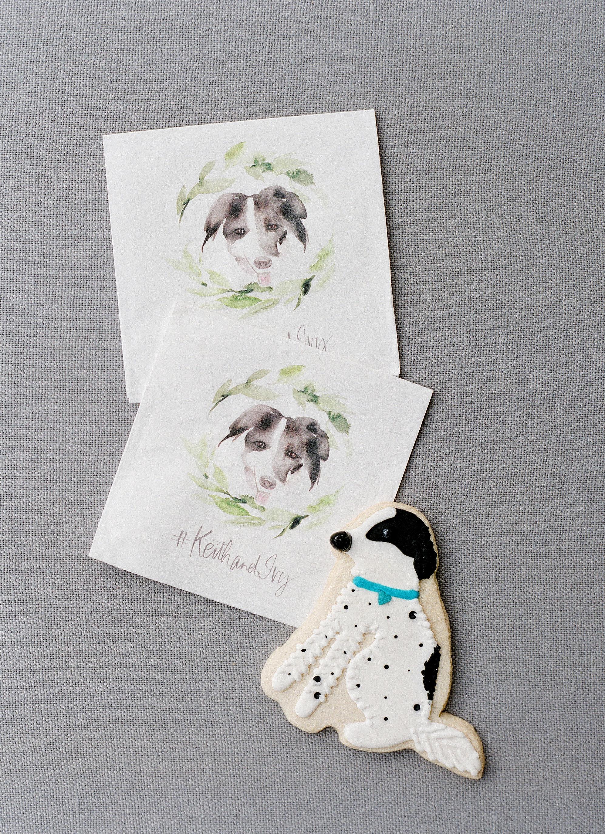 dog cookie wedding favors