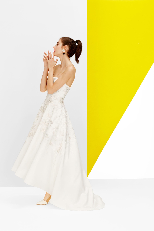 oleg cassini strapless gown