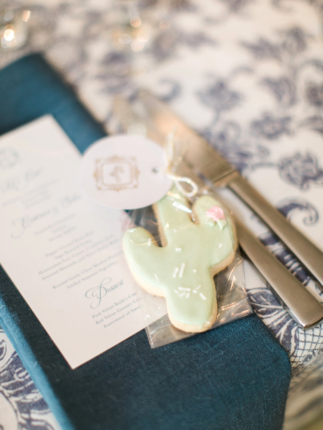 cactus cookies wedding favors
