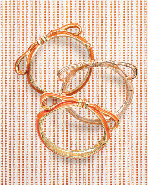 Orange and White Bracelets